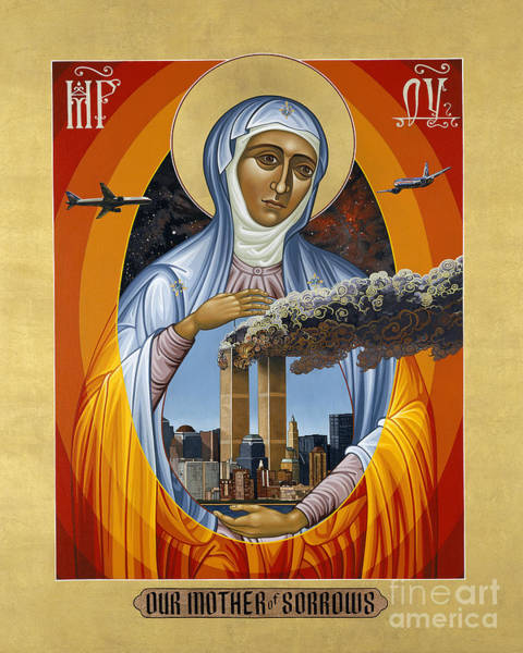 Painting - Our Mother Of Sorrows - Lwsms by Lewis Williams OFS