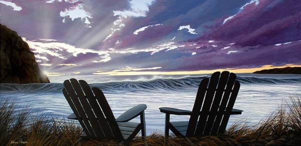 Painting - Our Ocean View by Anthony J Padgett