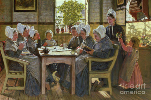 Wall Art - Painting - Our Poor  A Bible Reading, Chelsea Workhouse, 1878 by James Charles