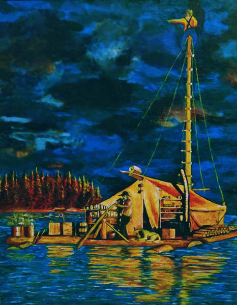 Raft Wall Art - Painting - Our Raft by Rick Ritchie