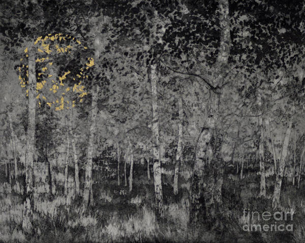 Darkness Painting - Our Secret by Angus Hampel