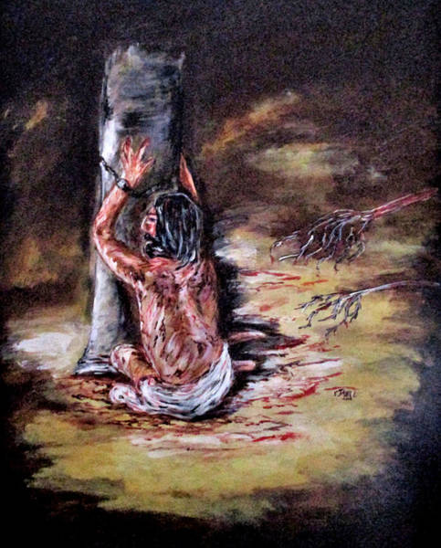 Painting - Our Sins by Clyde J Kell