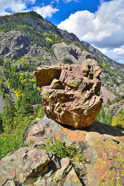 Photograph - Ouray Canyon Boulder by Ray Mathis