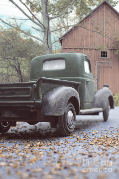 Elgin Photograph - Out By The Barn Old Plymouth Truck by Edward Fielding