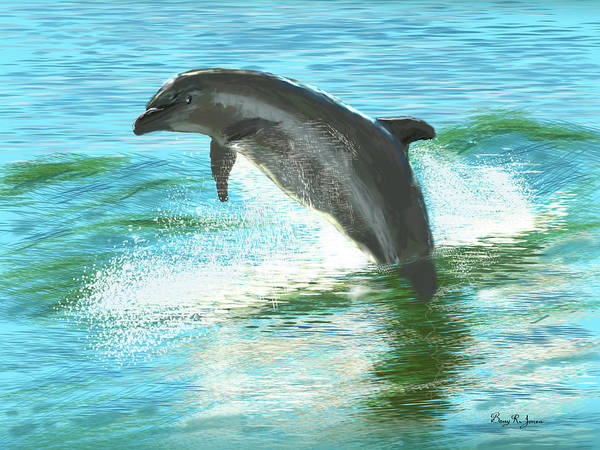 Digital Art - Out For A Swim by Barry Jones