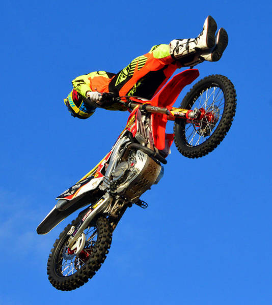Dirt Bike Photograph - Out In Front by David Lee Thompson