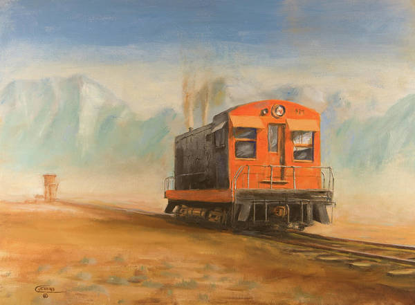 Diesel Trains Painting - Out Near Smoke Creek by Christopher Jenkins