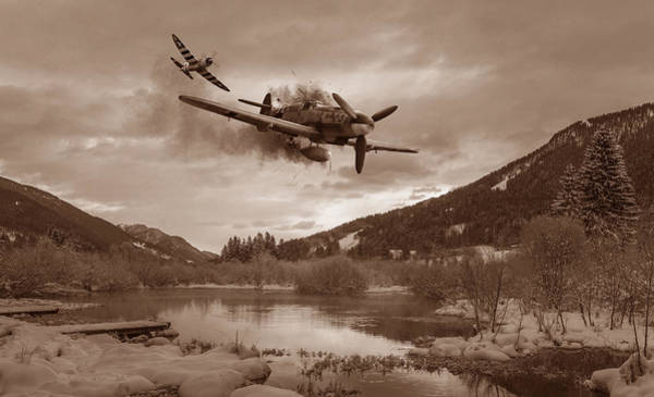 Usaaf Wall Art - Digital Art - Out Of Luck - Sepia by Mark Donoghue