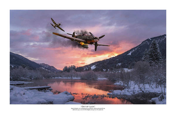 Usaaf Wall Art - Digital Art - Out Of Luck - Titled by Mark Donoghue