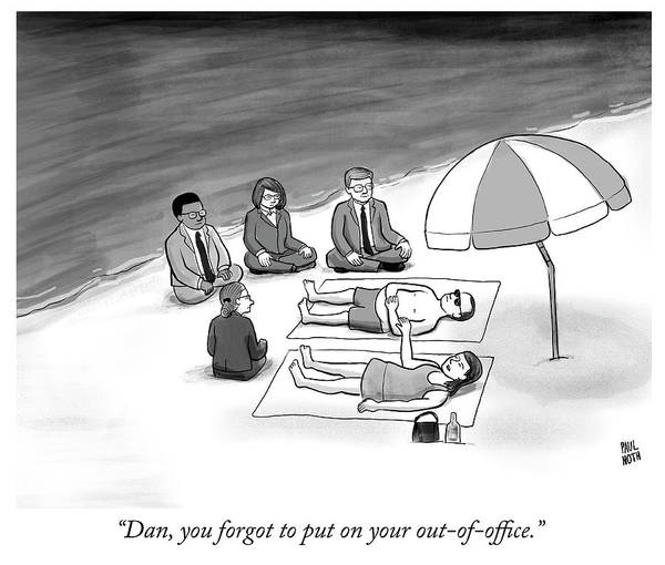 Work Out Drawing - Out Of Office by Paul Noth