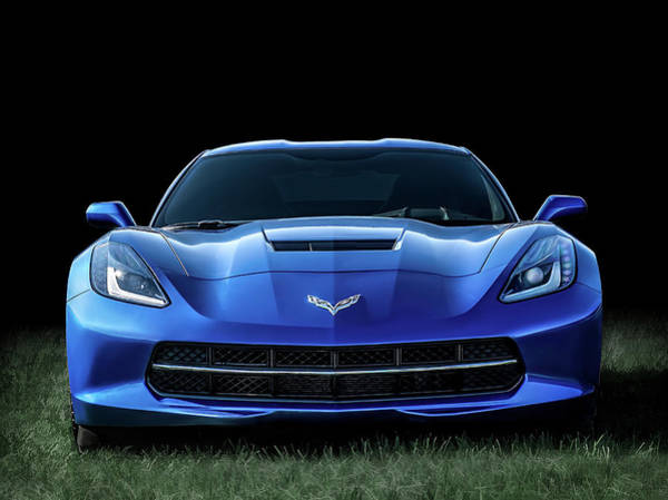 Corvette Wall Art - Digital Art - Blue 2013 Corvette by Douglas Pittman