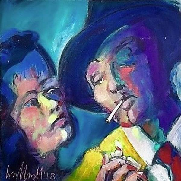 Painting - Out Of The Past by Les Leffingwell