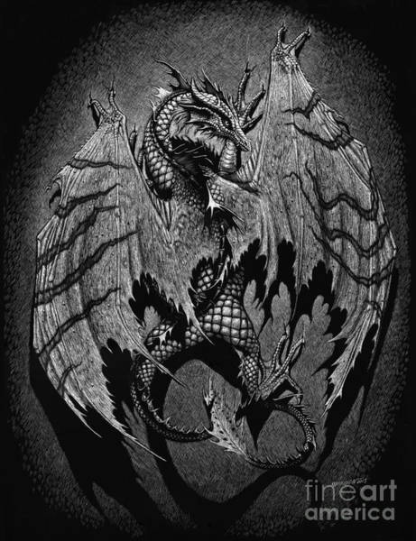 Scratchboard Wall Art - Digital Art - Out Of The Shadows by Stanley Morrison
