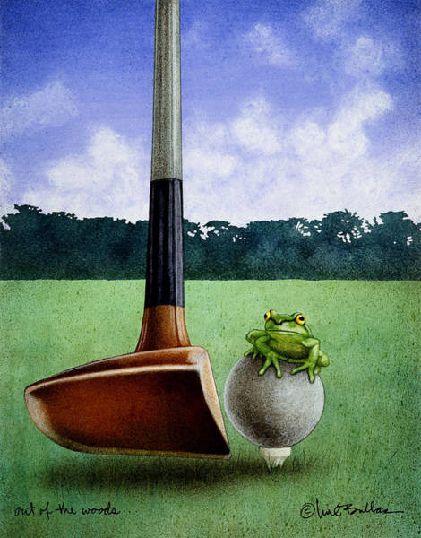 Frog Painting - Out Of The Woods... by Will Bullas