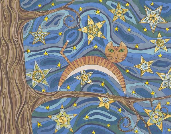 Night Time Drawing - Out On A Limb by Pamela Schiermeyer
