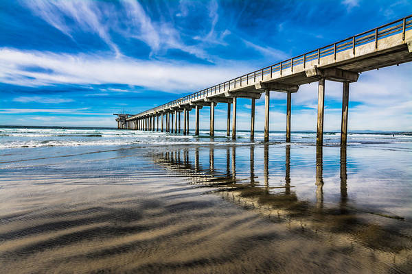 Scripps Pier Photograph - Out Over by Gina Graves