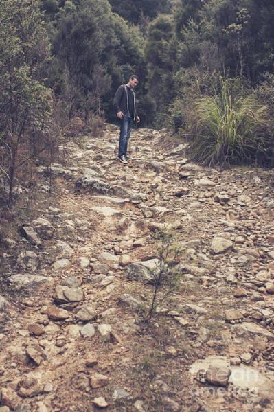 Hikers Photograph - Outback Explorer Bush Walking Western Tasmania by Jorgo Photography - Wall Art Gallery