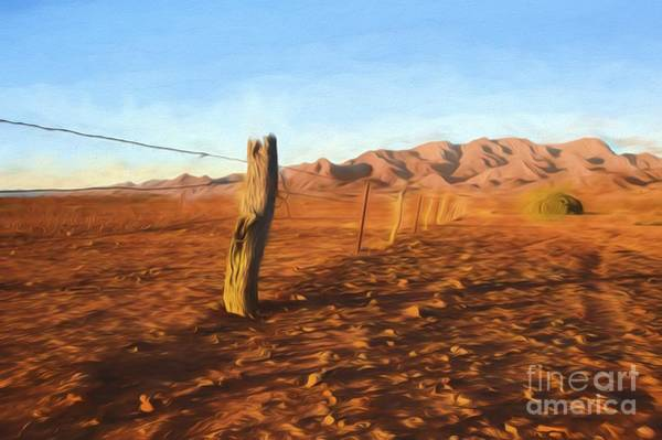 Photograph - Outback Fence    Go2 by Ray Warren
