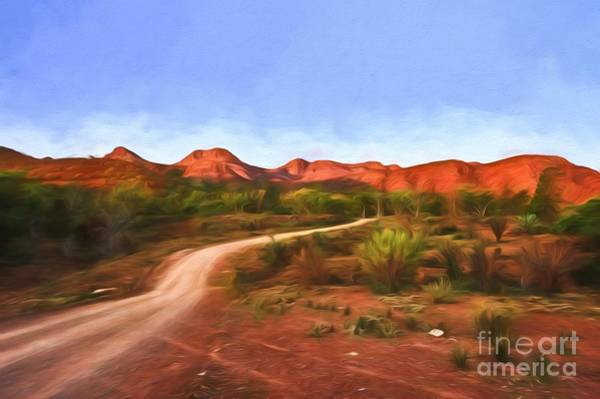 Photograph - Outback Track     Go1 by Ray Warren