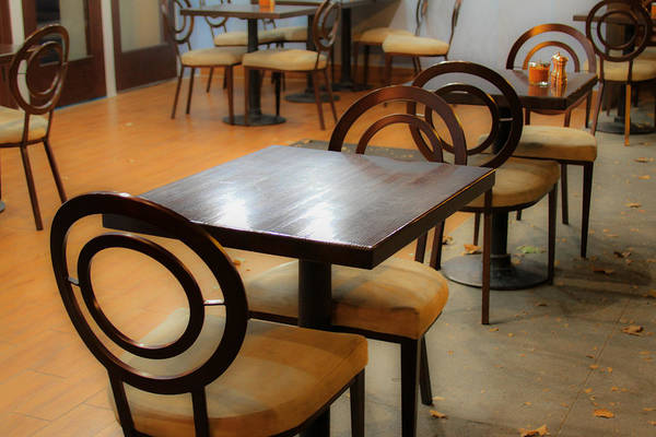 Photograph - Outdoor Cafe Seating Area by Bonnie Follett