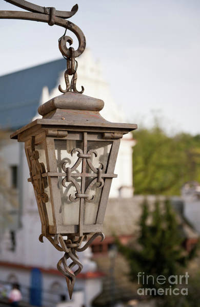 Wall Art - Photograph - Outdoor Decorative Lantern Closeup by Arletta Cwalina