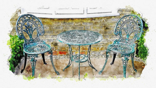 Digital Art - Outdoor Dining by Ruth Moratz