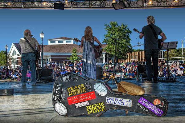Photograph - Outdoor Folk Country Rock Music Concert by Randall Nyhof
