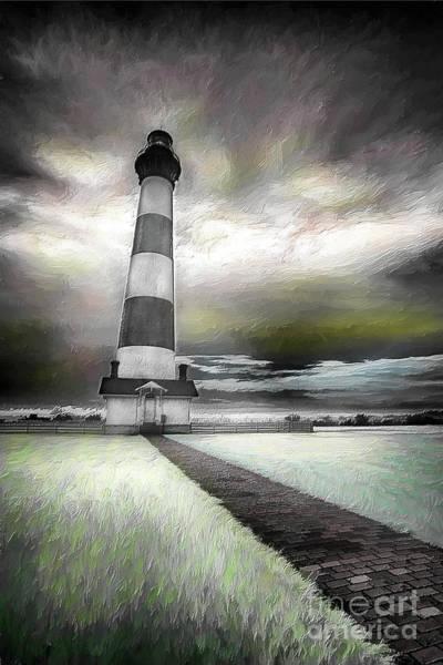 Bodie Digital Art - Outer Banks Bodie Lighthouse Original Ap by Dan Carmichael