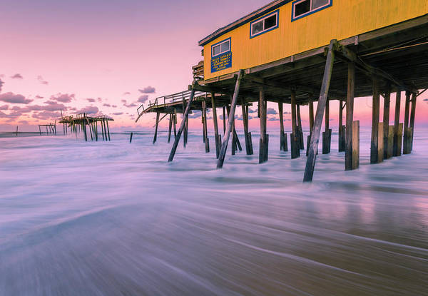 Photograph - Outer Banks Fishing Pier Sunrise At Frisco by Ranjay Mitra