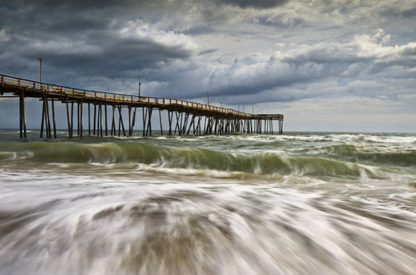 Tan Photograph - Outer Banks Nc Avon Pier Cape Hatteras - Fortitude by Dave Allen