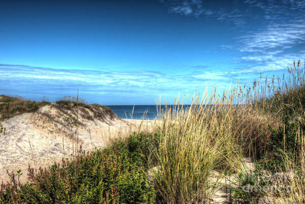 Ocracoke Lighthouse Photograph - Outer Banks Of North Carolina Seascape by Greg Hager