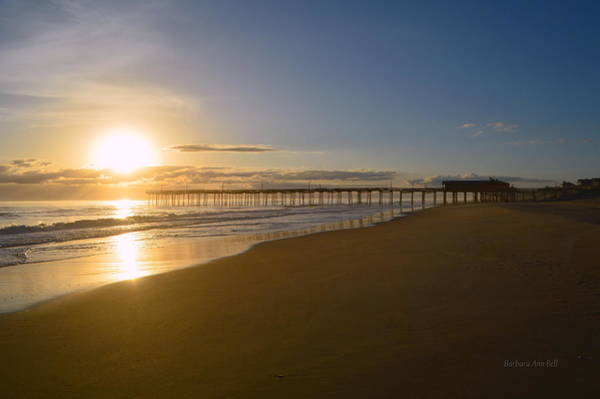 Photograph - Outer Banks Pier Sunrise by Barbara Ann Bell