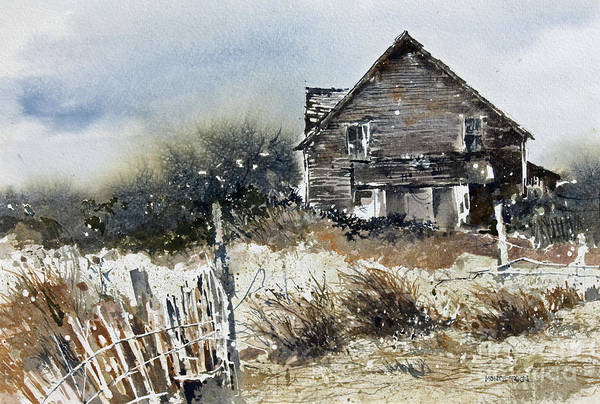 Painting - Outer Banks Shack by Monte Toon