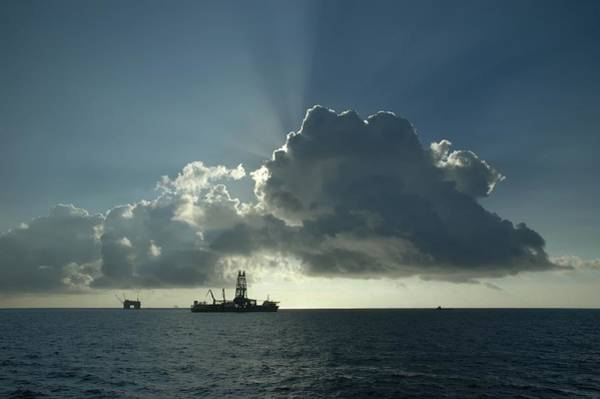 Photograph - Outer Continental Shelf Oilfield  by Bradford Martin