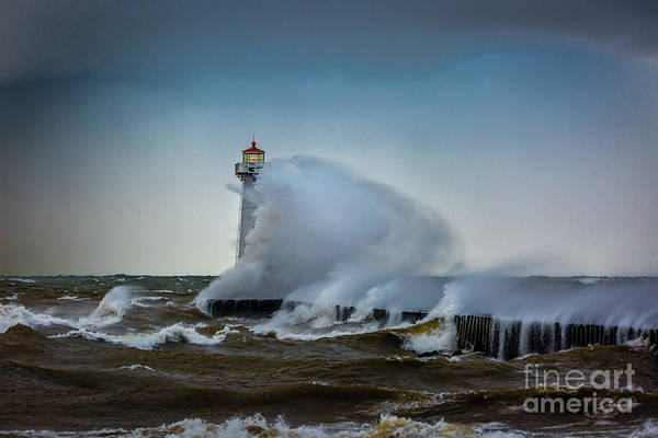 Photograph - Outer Light Sodus Point by Roger Monahan