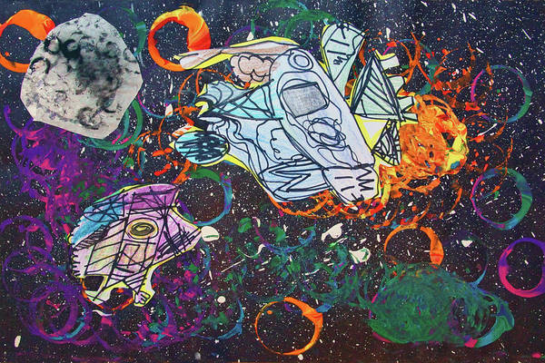 Space Mixed Media - Outer Space by Nikolyn McDonald