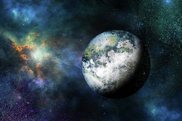 Photograph - Outer Space The Final Frontier by Peggy Collins