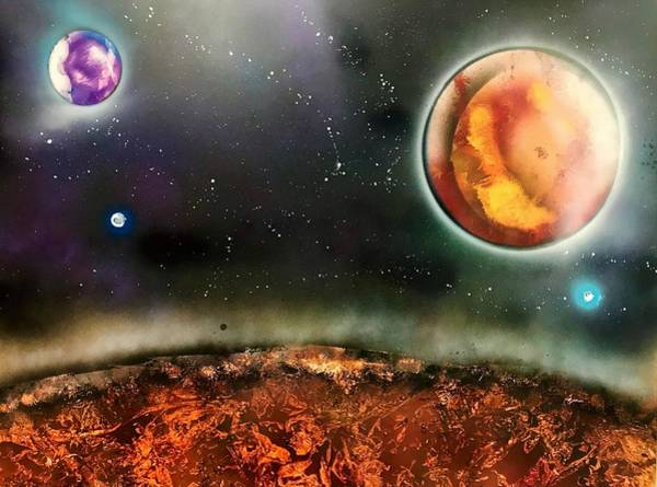 Wall Art - Painting - Outer Space by Willy Proctor