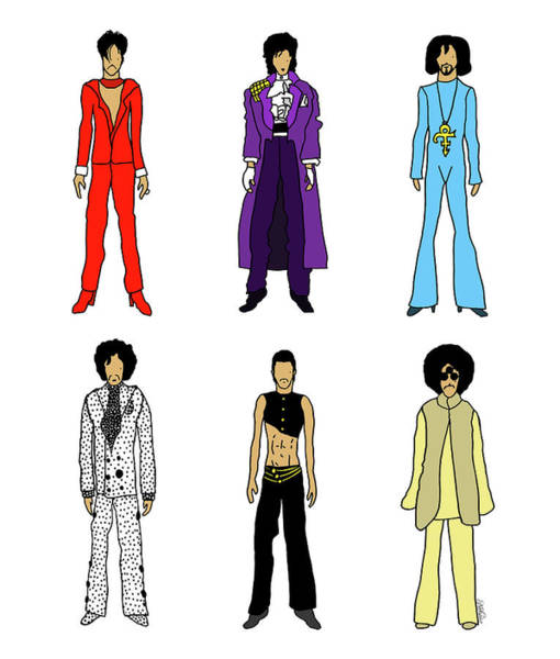 Purple Digital Art - Outfits Of Prince by Notsniw Art