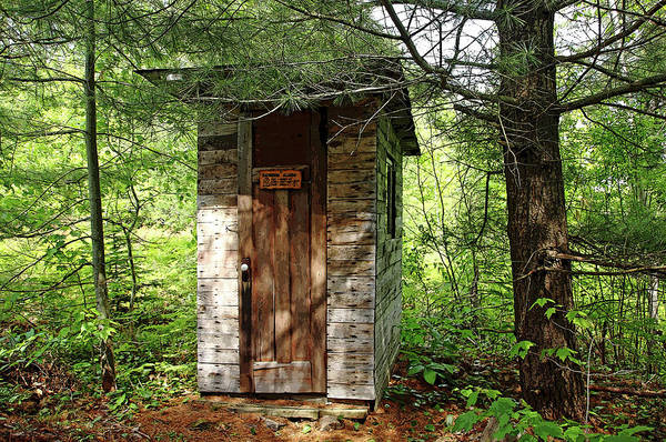 Outside Toilet Photograph - Outhouse Bathroom Alarm by Debbie Oppermann
