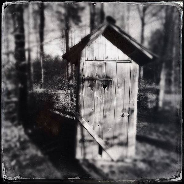 Wall Art - Photograph - Outhouse Black And White Wetplate by Matthias Hauser