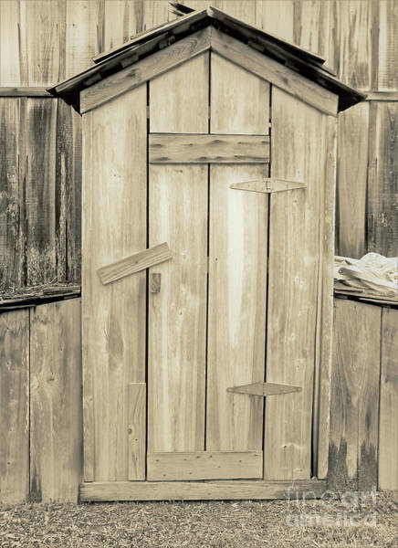 Photograph - Outhouse Cracker Style Sepia by D Hackett