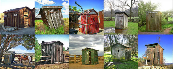 Wall Art - Photograph - Outhouse Panel by Don Schimmel