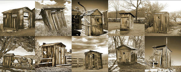 Wall Art - Photograph - Outhouse Panel, Sepia by Don Schimmel