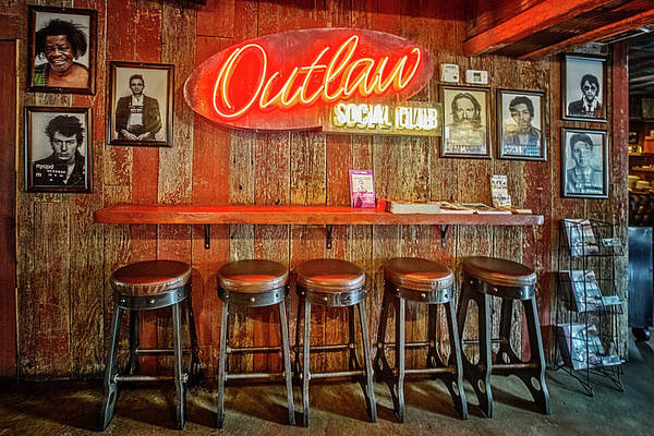 Photograph - Outlaw Social Club by Debra and Dave Vanderlaan