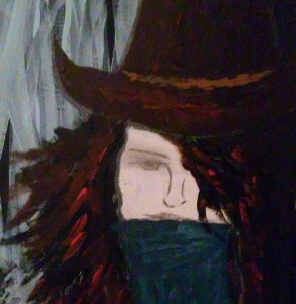 Wall Art - Painting - Outlaws Angel by Tamie Atkinson