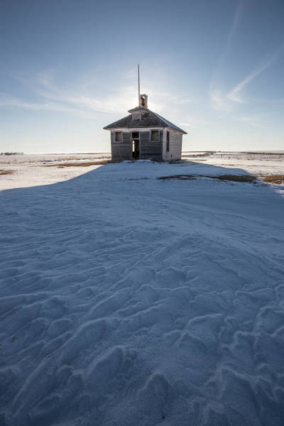 Schoolhouse Photograph - Outpost  by Aaron J Groen
