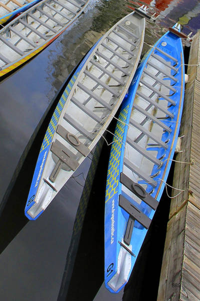 Photograph - Outrigger Canoe Boats by Ben and Raisa Gertsberg