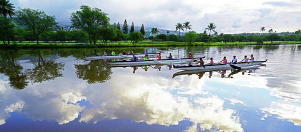 Wall Art - Photograph - Outrigger Canoes Waikiki by Kevin Smith