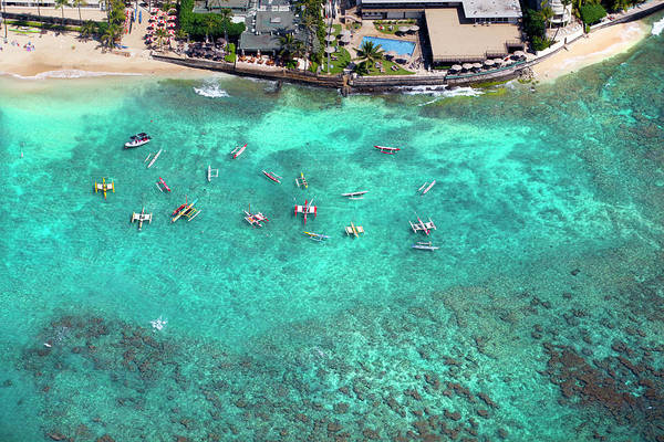 Waikiki Photograph - Outriggers At The Outrigger by Sean Davey
